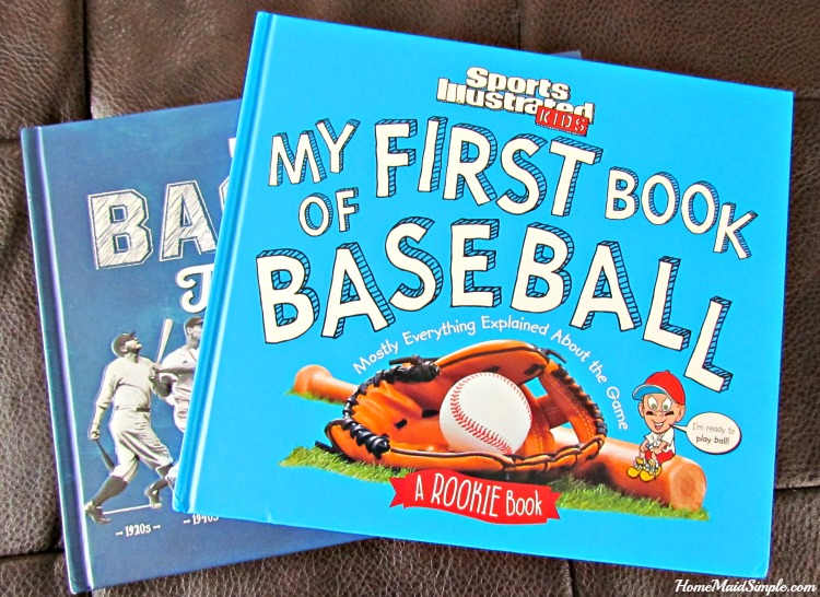 Help kids learn the game before your next outing with My First Book of Baseball