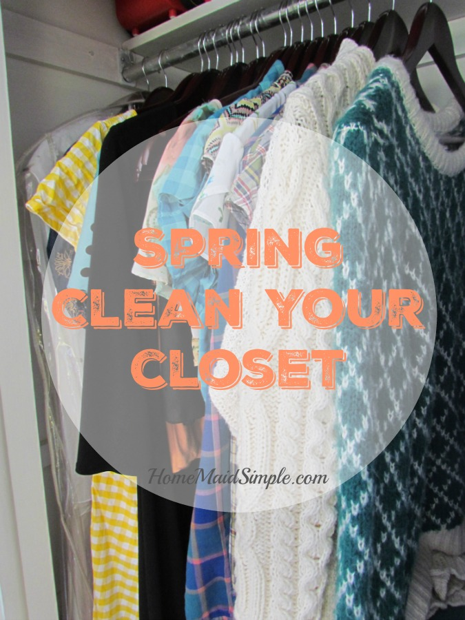 Awesome tips to help spring clean your closet.