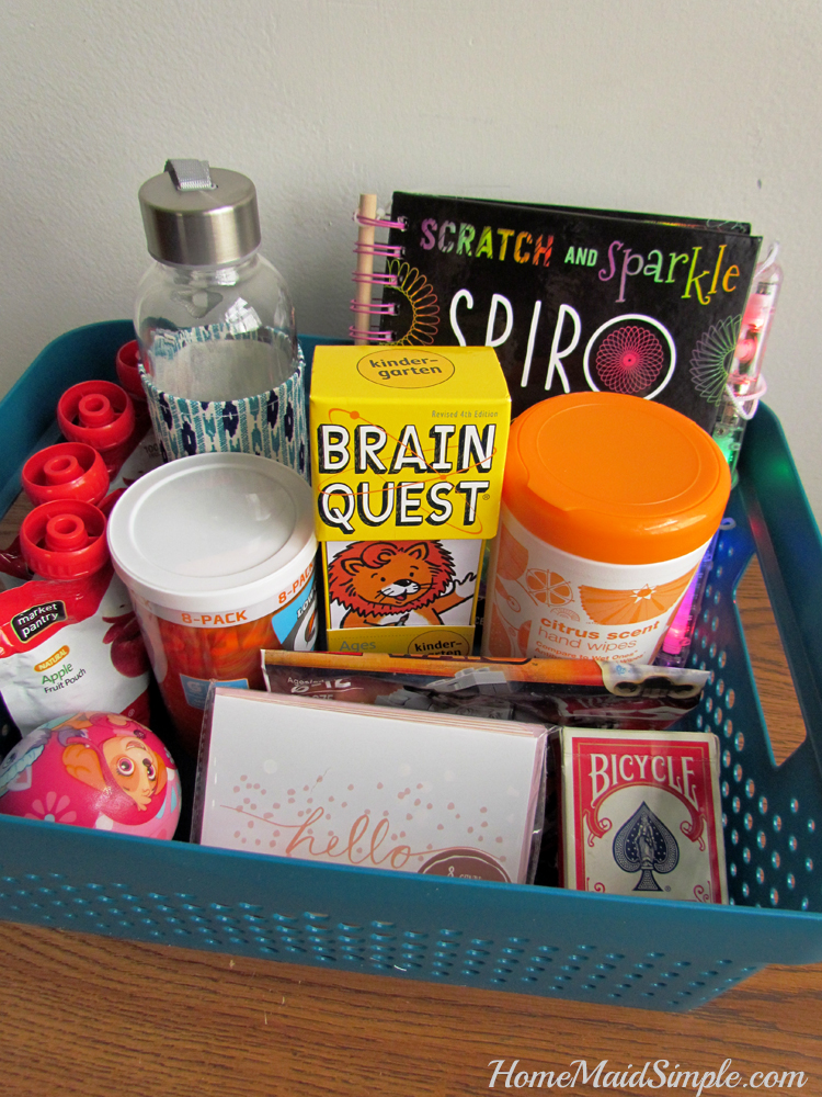 Love this Sick Kids Basket of activities