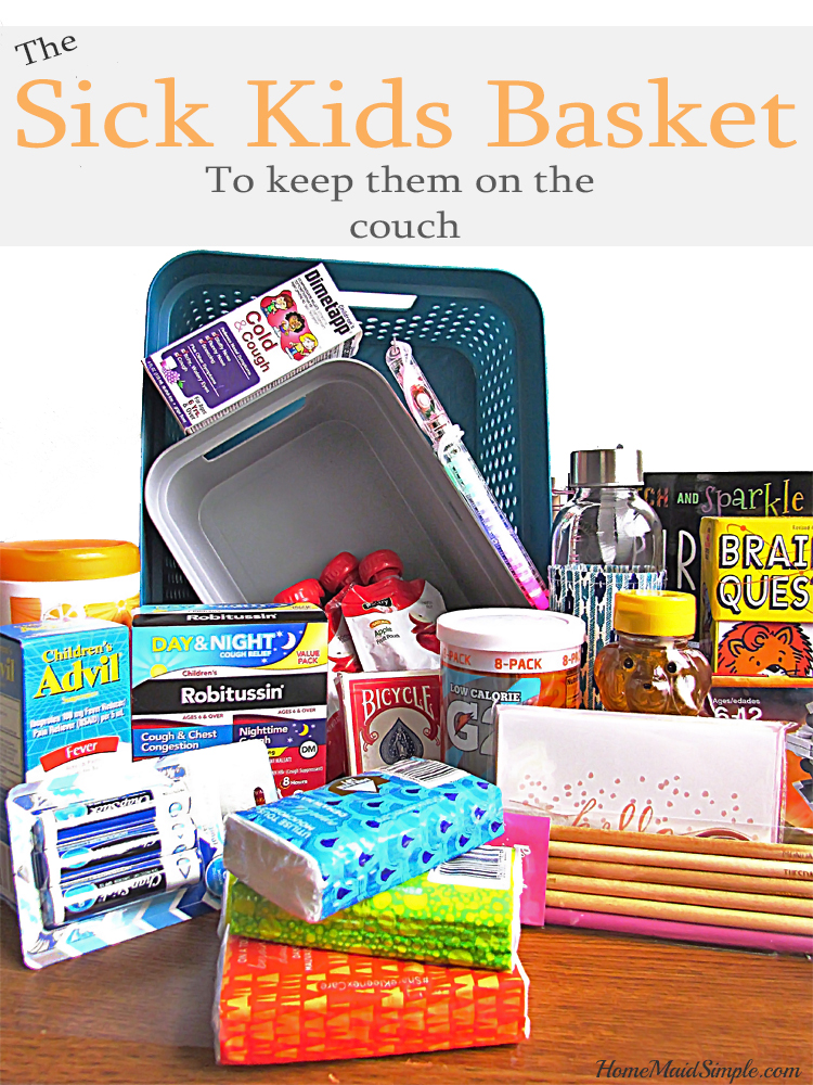 Keep sick kids resting with this sick kids basket