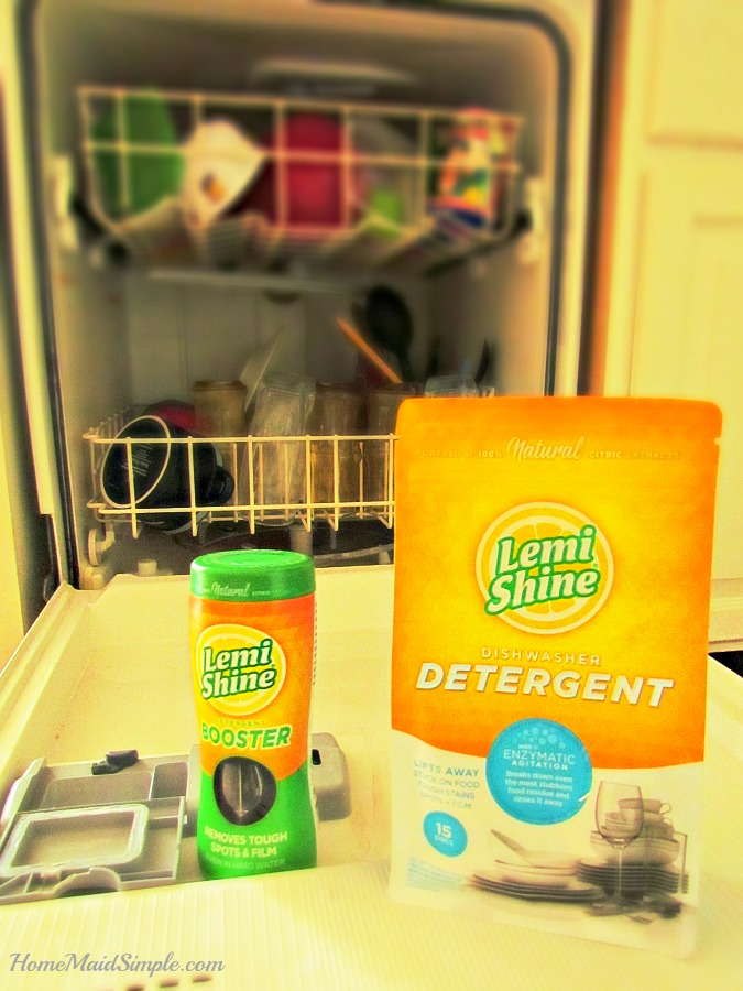 how to use lemi shine in dishwasher