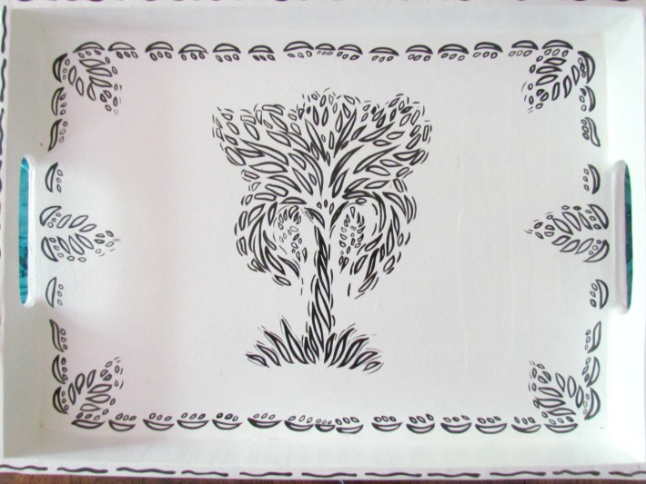 Papier Mache Tree of Life Tray from #HeartofHaiti ad