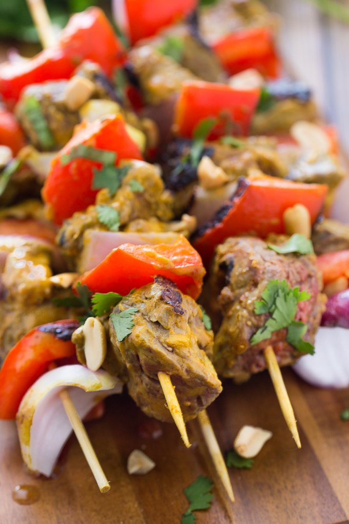 Thai Flank Steak Kebabs from Simply Stacie