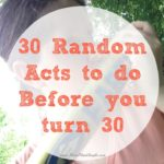30 Random Acts Before 30