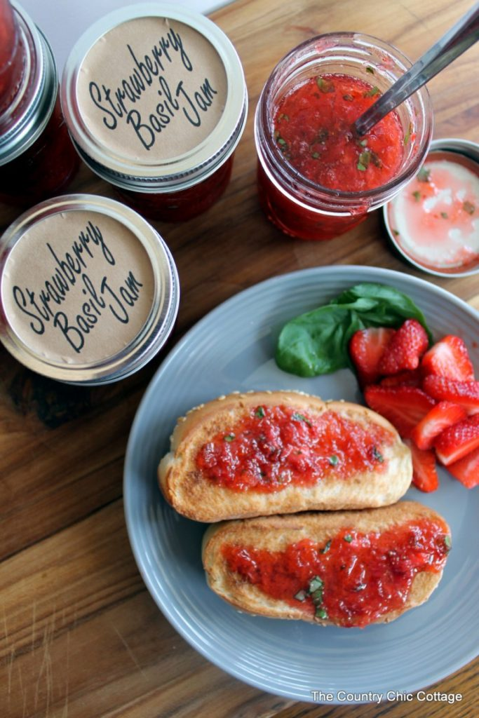 Strawberry Basil Jam from the Country Chic Cottage