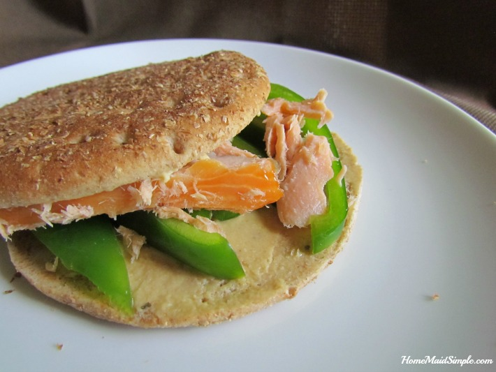 Get a boost of HDL with this Smoked Salmon Sammie on Brownberry® Sandwich Thins® 0grams cholesterol bread. ad