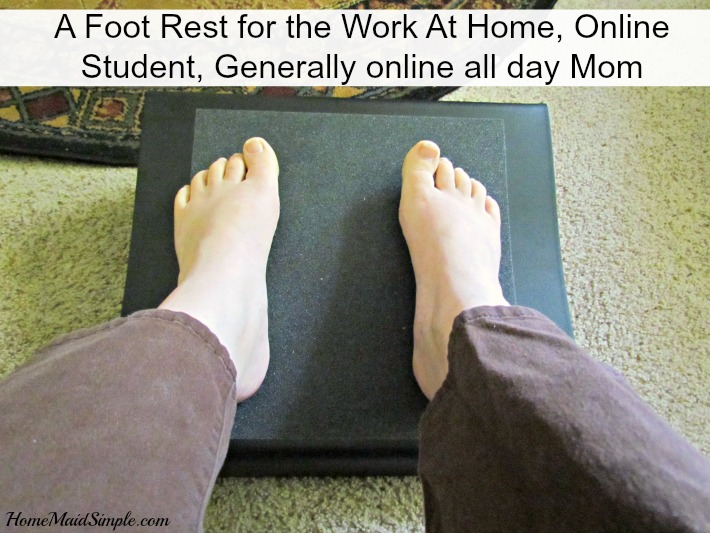 Working from home, and attending school online leaves my legs stiff and sore by the end of the day. The Marvel Foot Rest has really helped! #ad