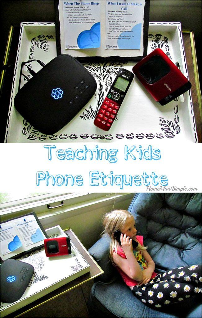 Teach kids phone etiquette with the Ooma Telo. #ad #HelloOomaSavings