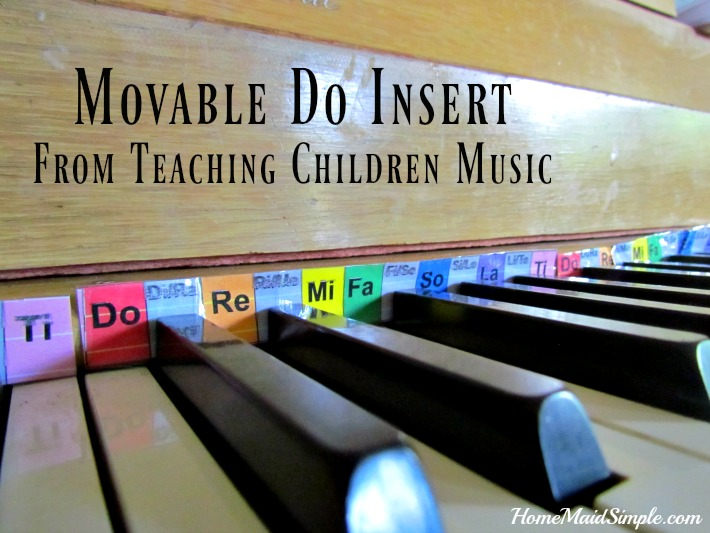 Teaching Children Music with a Movable Do piano insert
