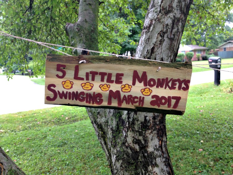 Announcing...Baby #5. 5 Little Monkeys Swinging in baby announcement