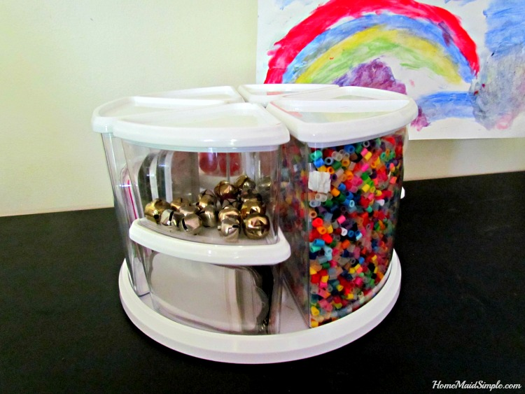 Organize crafts with the Deflect-o 9 Canister Carousel. ad