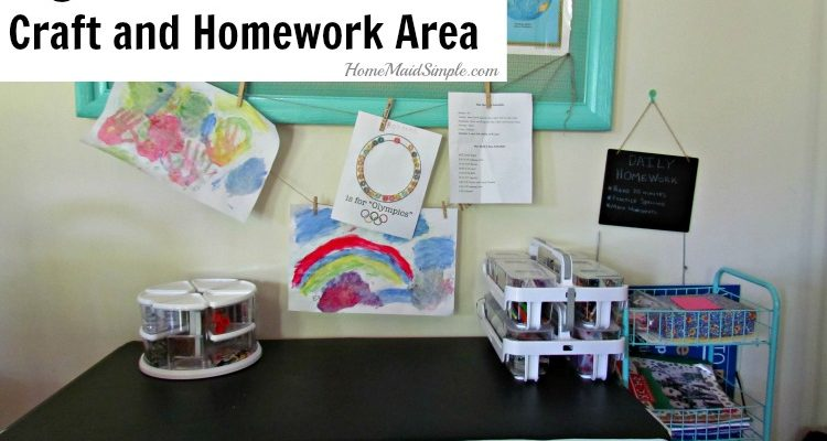 Organize a Back to School Craft and Homework Area with Deflect-o