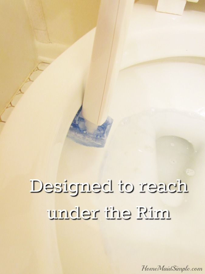 New Scotch-Brite® Disposable Toilet Scrubber is designed to reach under the rim! #ScrubTheMess #ad