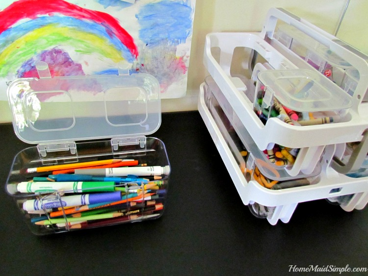 Organize Stackable Caddy from Deflect-o and Shoplet. ad