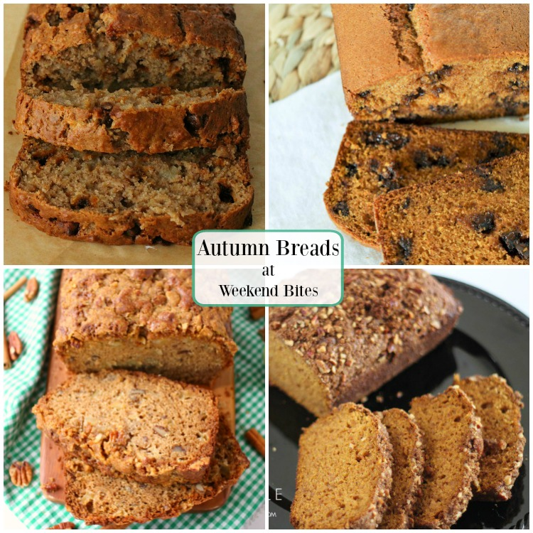 Look for these Autumn flavored breads at Weekend Bites