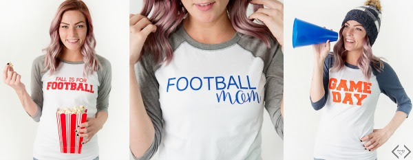 Football Raglan tees are Customized at Cents of Style!