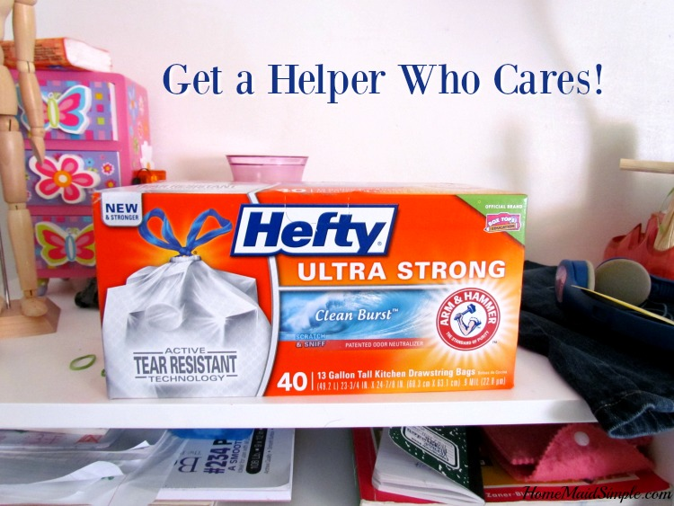 When the kids refuse to help, grab a Helper who cares! #HeftyHeftyHefty #HeftyHelper #ad