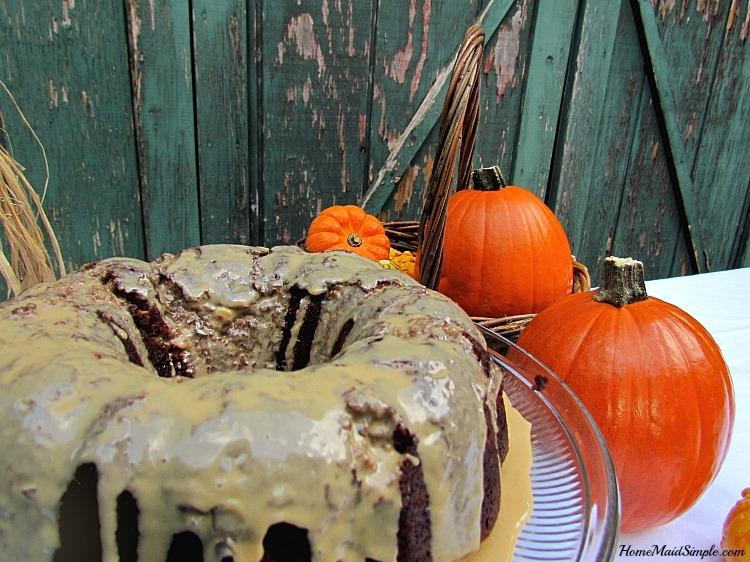 Chocolate Pumpkin Fudge Bundt Cake Recipe