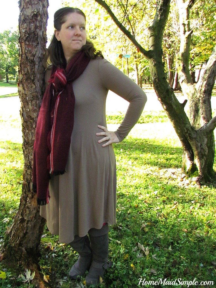 Layer a blanket scarf over this Remi Swing Dress for a fall look you'll fall in love with! ad