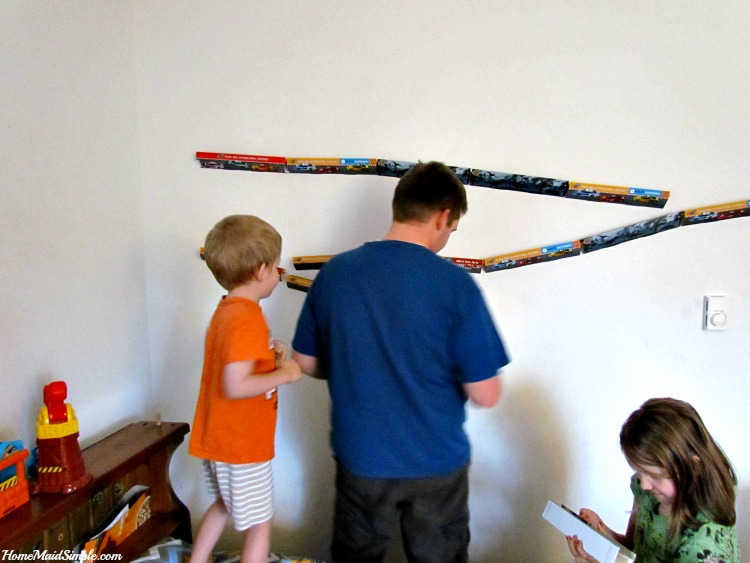 Paper Trax install without damage to the walls! ad