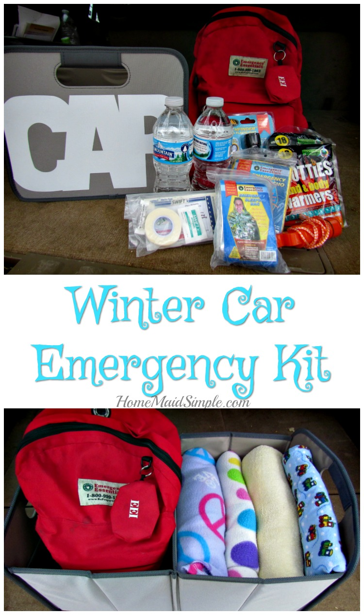 Be prepared this winter with a car emergency kit! Here's everything you need. ad