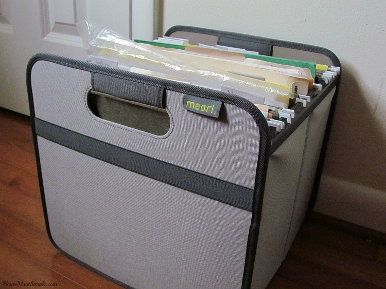 Organize your work files with meori filing box. ad