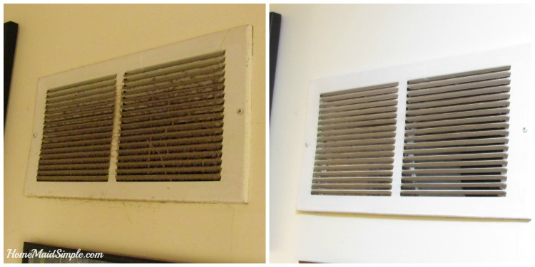 Clean your vents when you change your air filter. ad