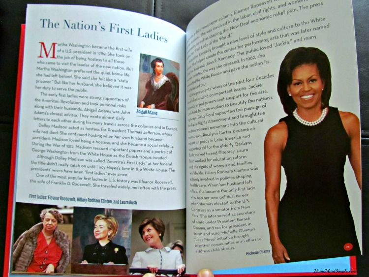 Time for Kids wouldn't leave out the First Ladies of the white house! Check it out in Presidents of the United States.