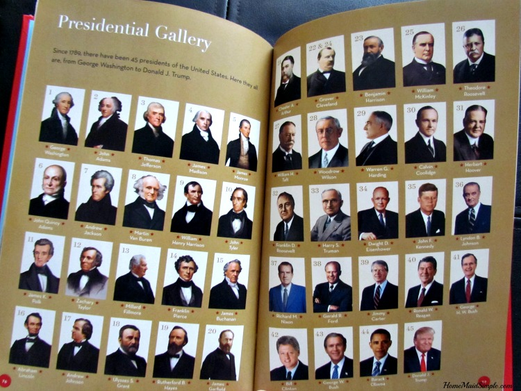 45 presidents of the United States in Time For Kids new book!