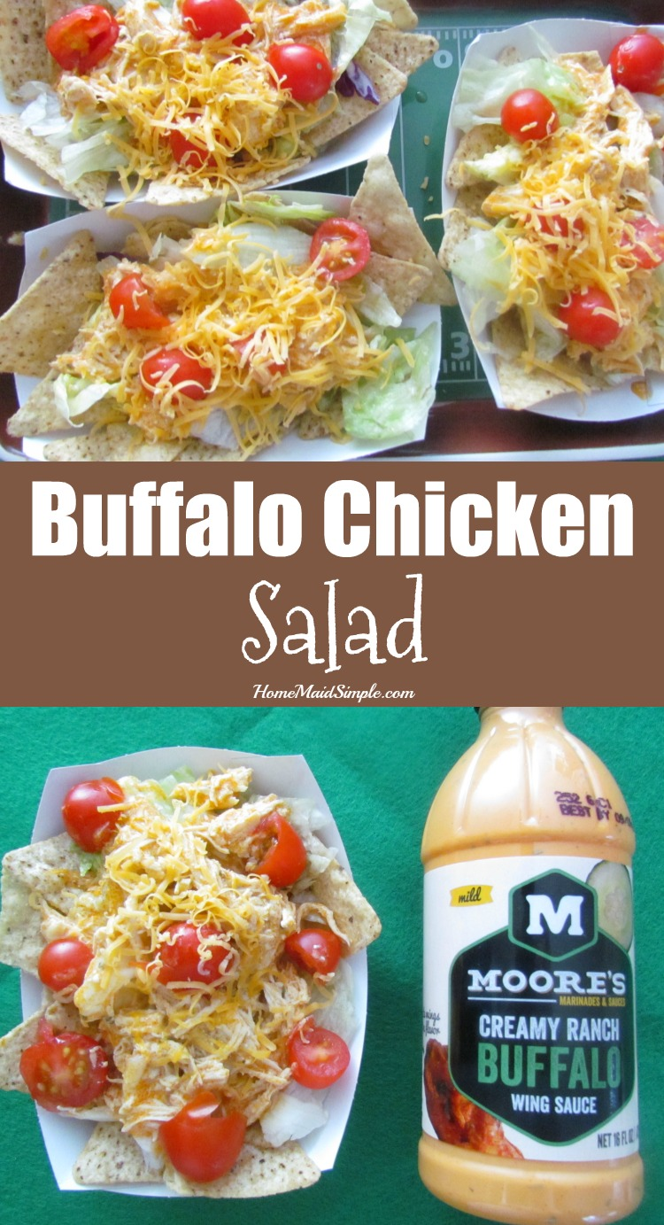 Kick start your Super Bowl party with Buffalo Chicken Salad appetizers. ad