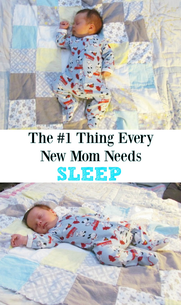 The real thing every new mom needs is a good night of sleep.