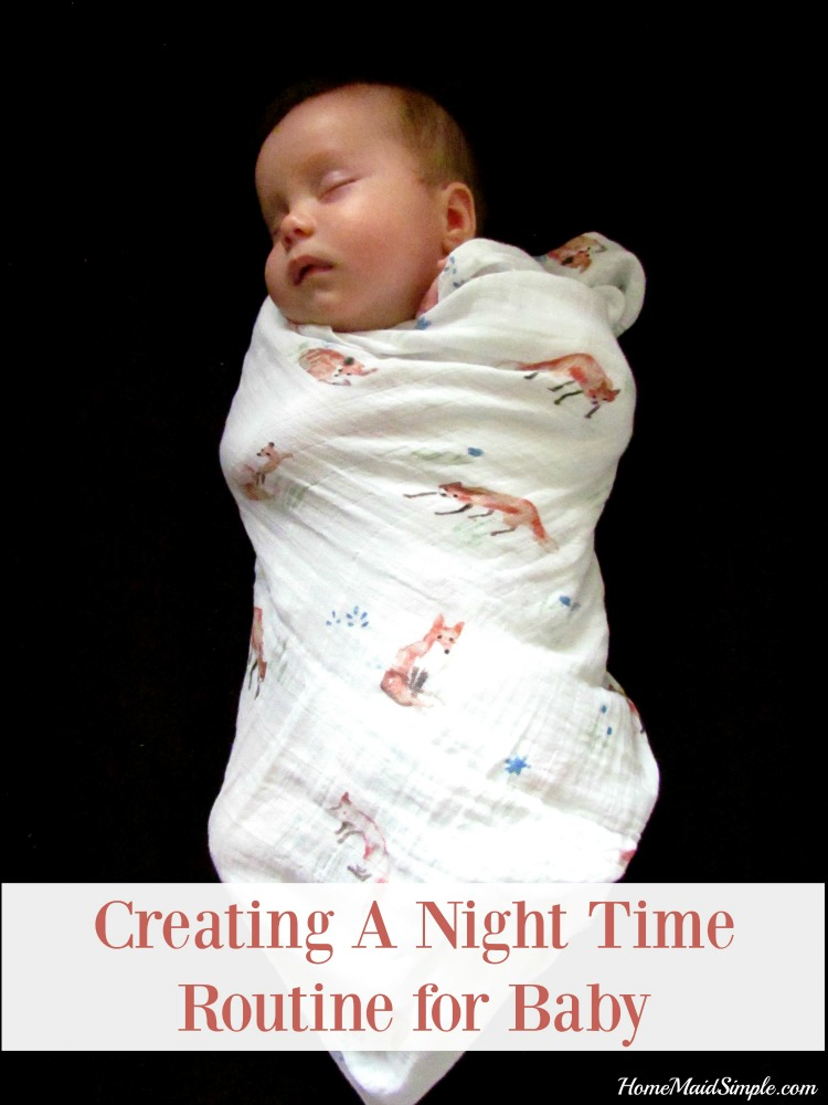 Creating a Night Time Routine for Baby