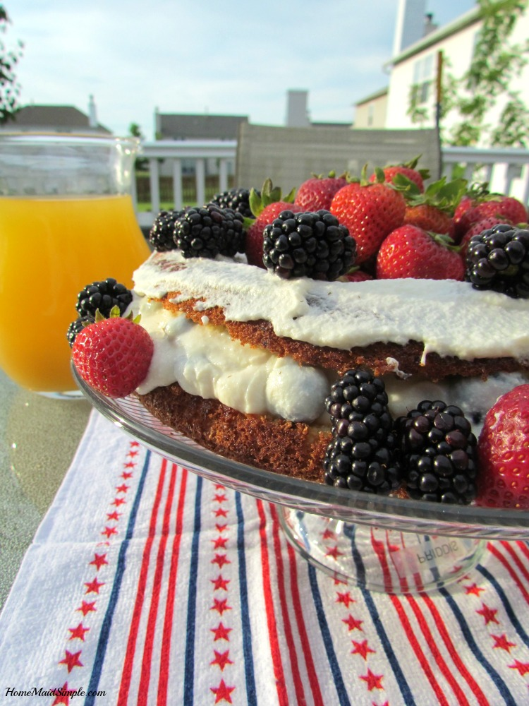 Give this Summer Celebration Cake a try at your next party. Low Calori and Low Sugar! AD