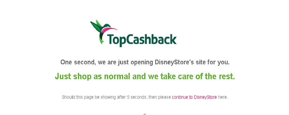 Back to School Savings with TopCashBack at the Disney Store. ad