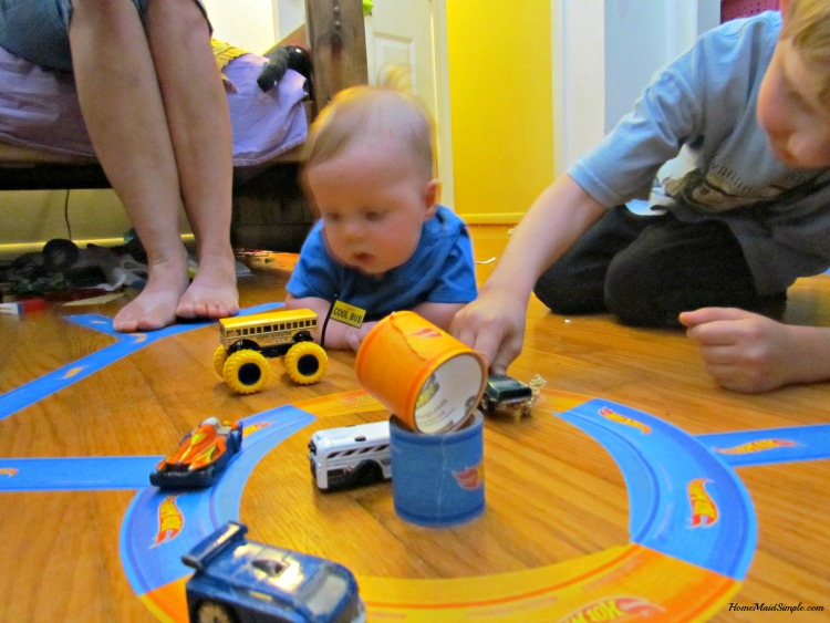 Hot Wheels® PlayTape® bringing brothers closer than ever. ad
