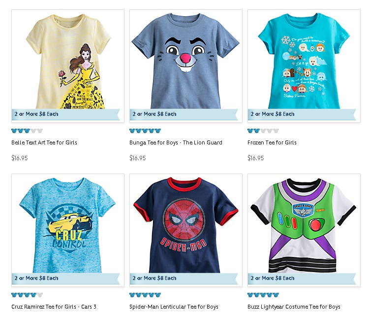 Disney Graphic tees with TopCashBack. ad