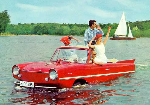 An amphicar exists! 50 Wacky Inventions throughout History.