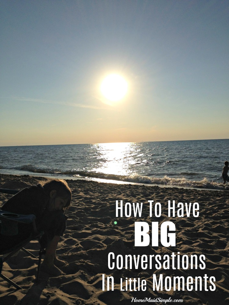 Tips for parents on having Big Conversations in Little Moments. ad