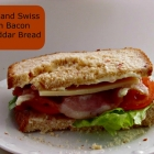 BLT and Swiss on Bacon Cheddar Bread {Foodie Friday}