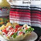 Taco Salad in Home Made Tortilla Bowls