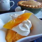 Comfort Food with Peaches and Almond Cream