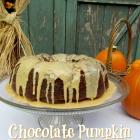 Chocolate Pumpkin Fudge Bundt Cake with Pumpkin Glaze