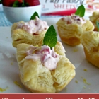 Strawberry Blossom Puffs Bring in Spring