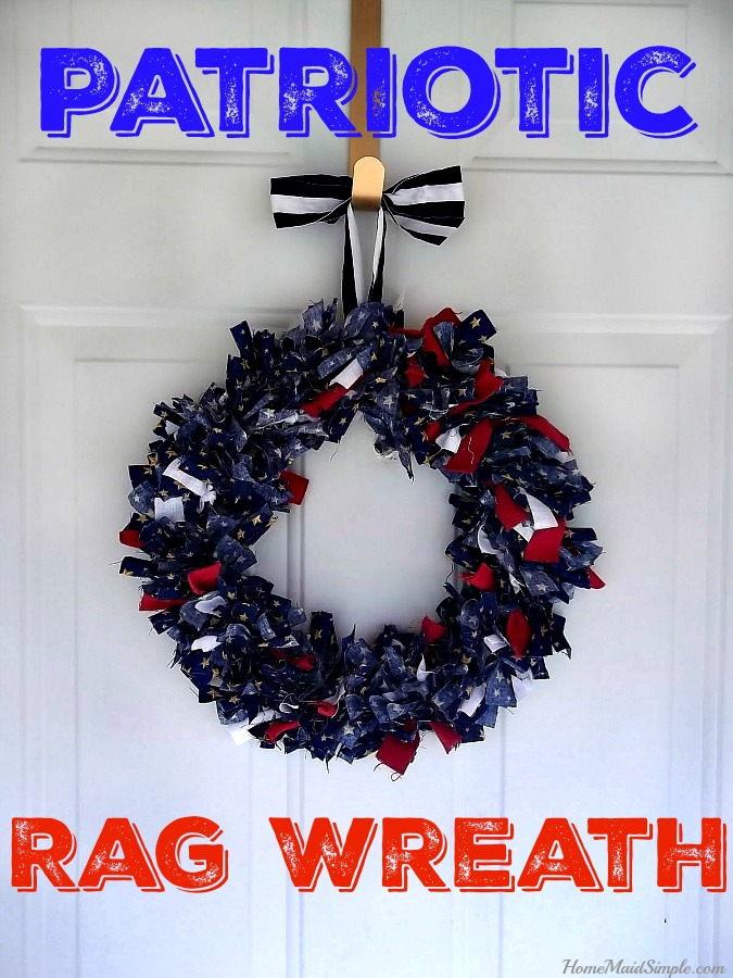 Show your Patriotism with this Patriotic Rag Wreath