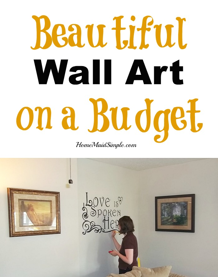 Budget wall art you can love looking at.