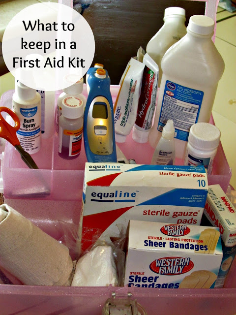 What to keep in a first aid kit