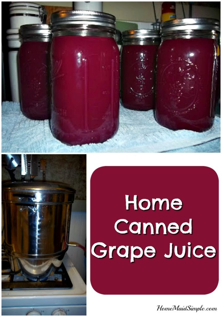Add a little club soda to this home canned grape juice to celebrate all the holidays this season.