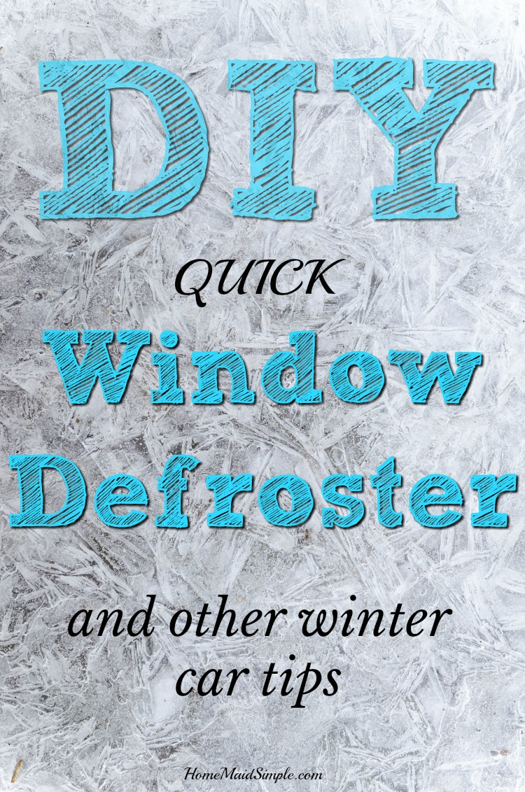 diy quick window defroster and other winter car tips home maid simple. Black Bedroom Furniture Sets. Home Design Ideas