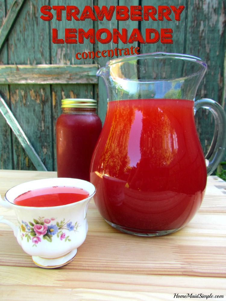 Enjoy a refreshing glass of lemonade all year long with this Strawberry Lemonade Concentrate.