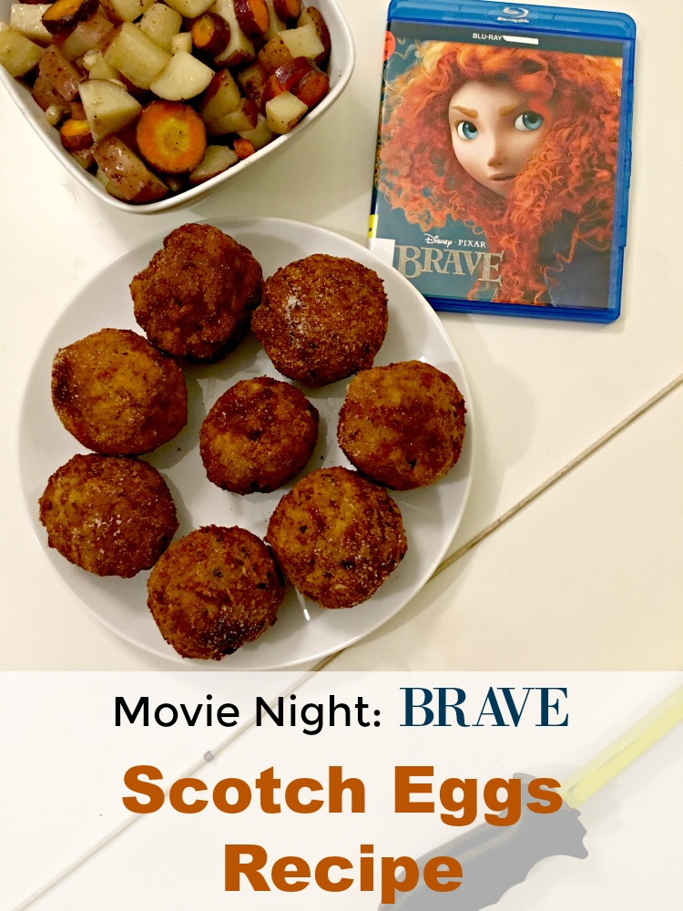 Make it a family movie night. Watch Brave and enjoy Scotch Eggs.